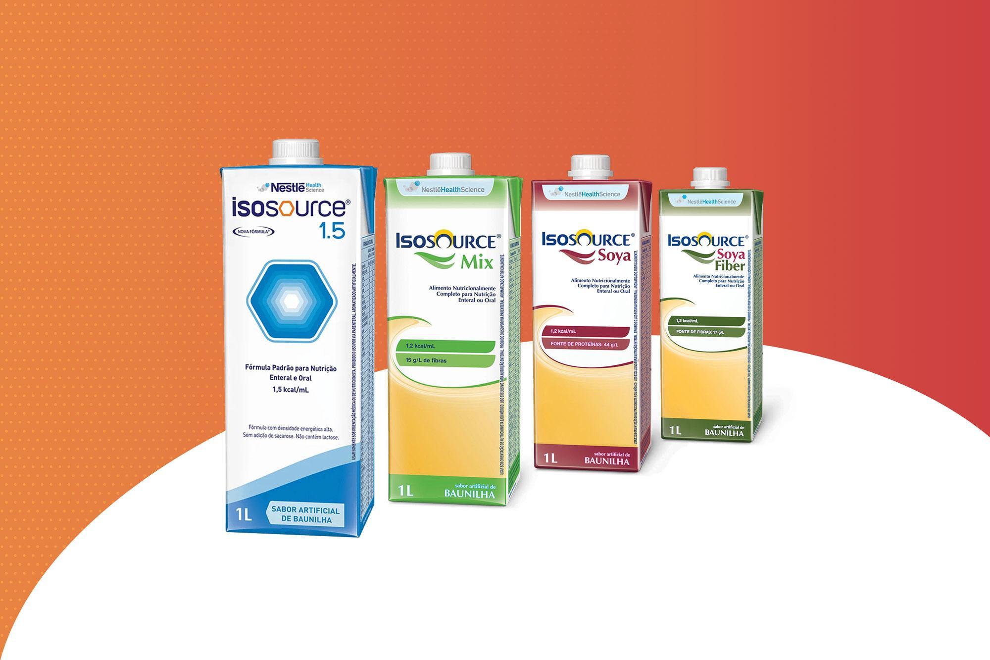 Isosource da Nestlé: a linha completa de produtos