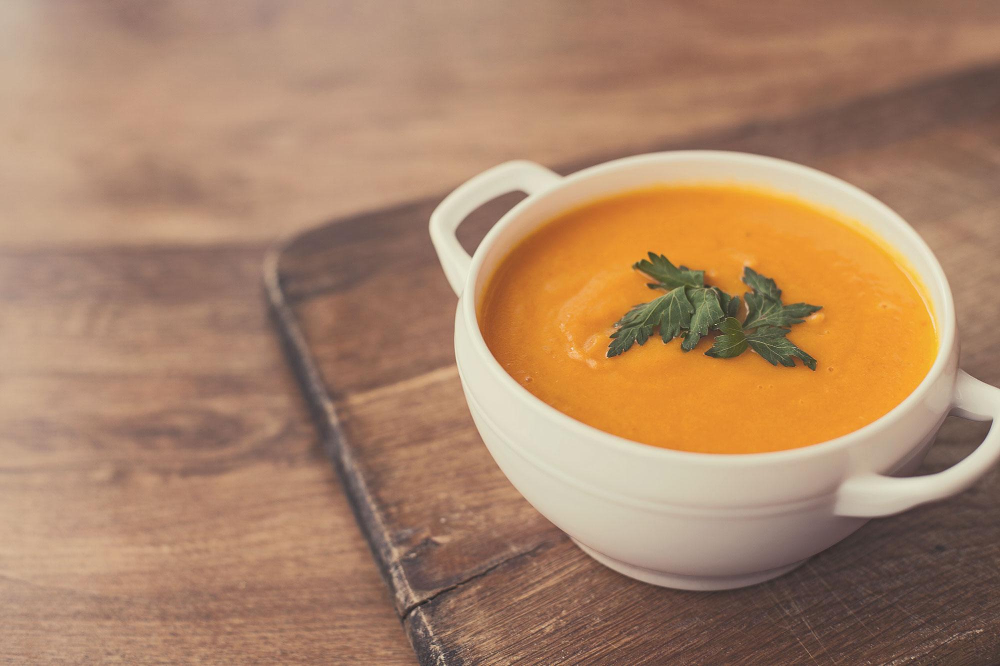 Creme de cenoura e mandioquinha com Nutren 2.0